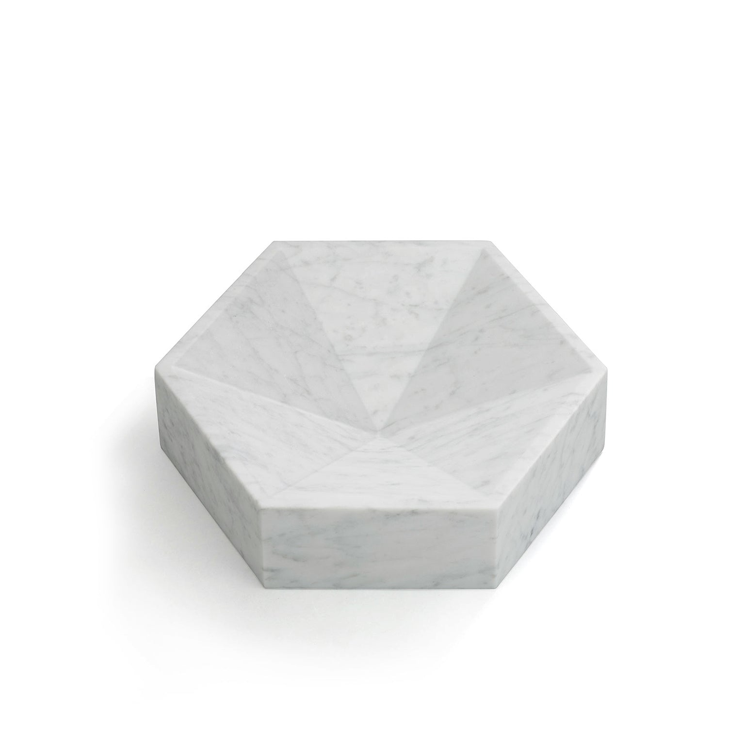 Hexagonal Constellation Bowl Small & Low </br> Carrara