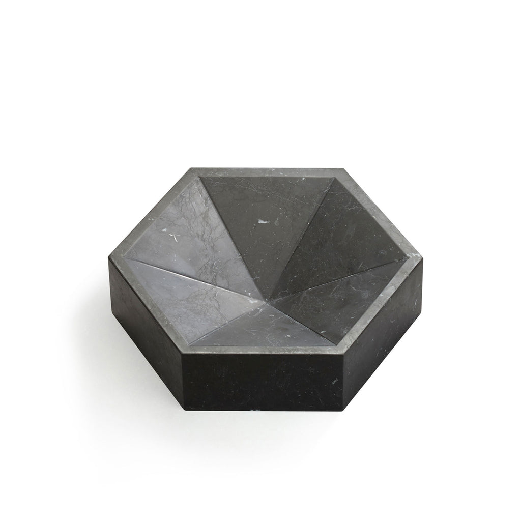 Hexagonal Constellation Bowl Small & Low </br> Nero Marquina