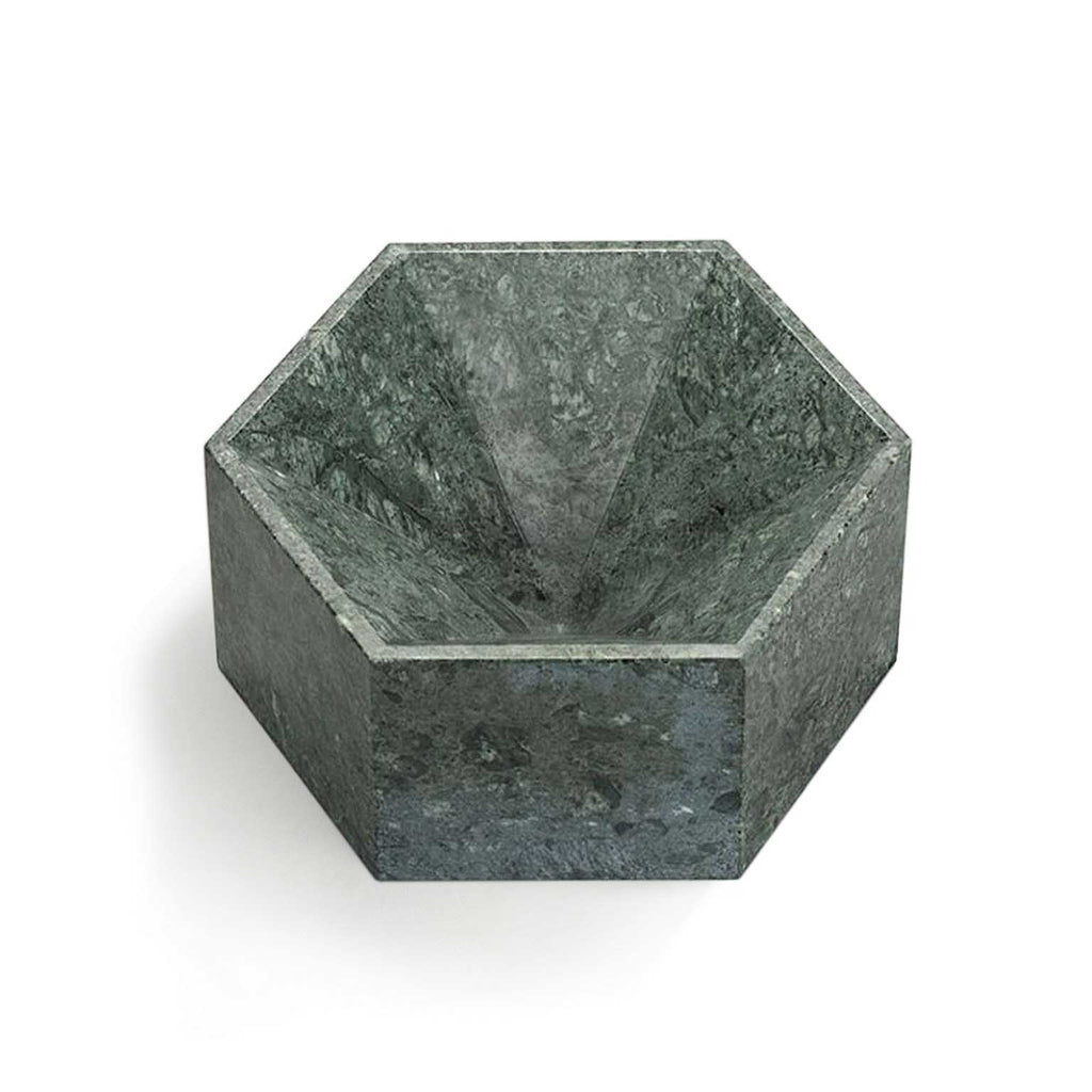 Hexagonal Constellation Bowl Small & High </br>Verde Guatemala