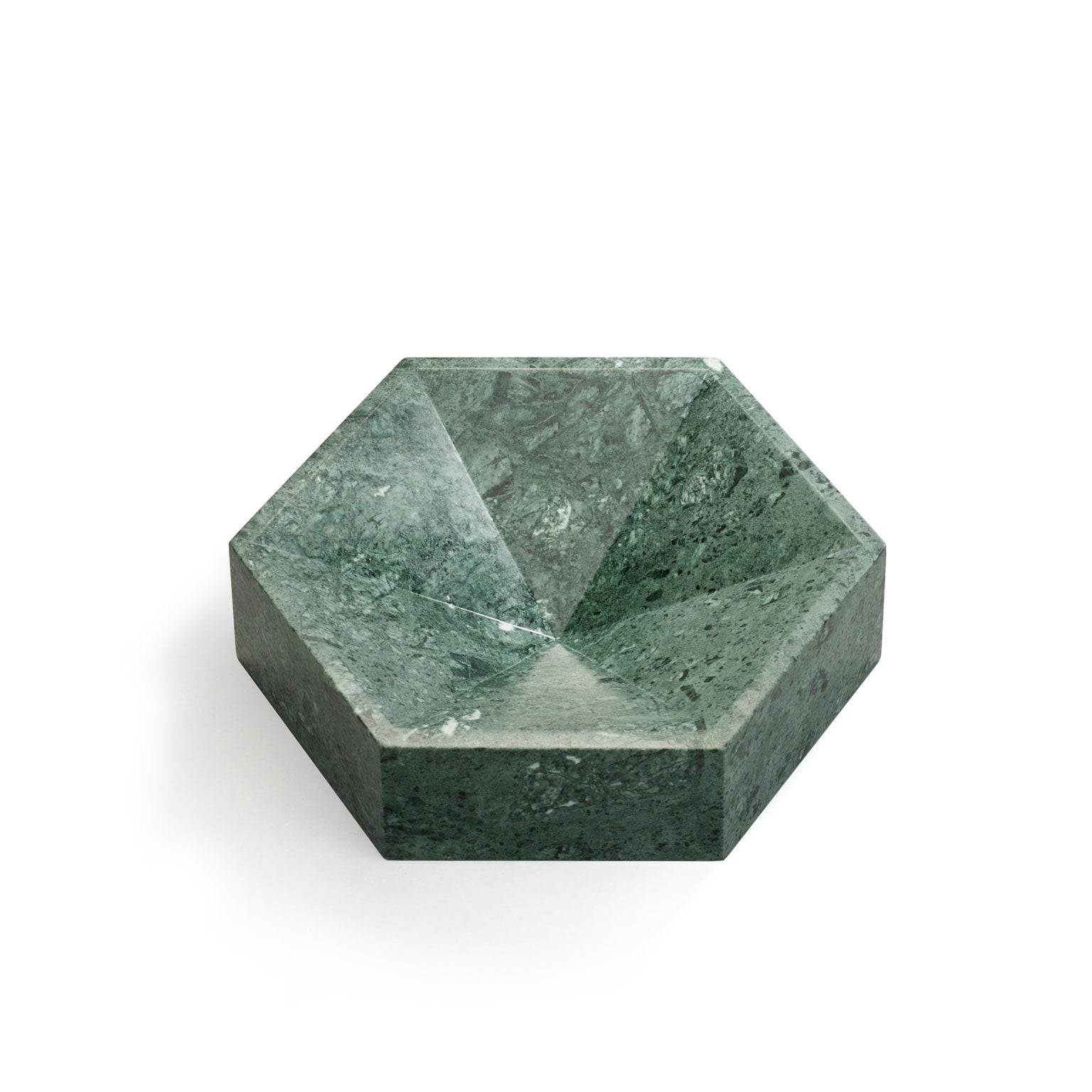 Hexagonal Constellation Bowl Small & Low </br> Verde Guatemala
