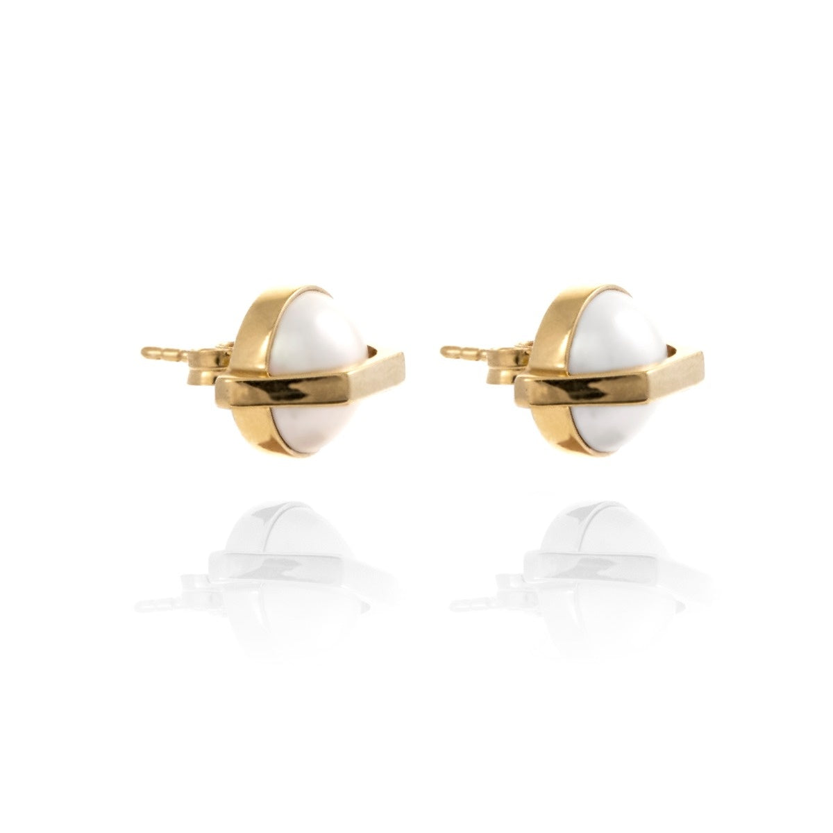 Moon Mechanics Studs <br /> 18ct Gold Vermeil on Sterling Silver
