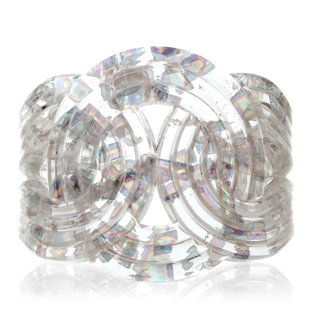 Solar Light Cuff <br /> Holographic Clear