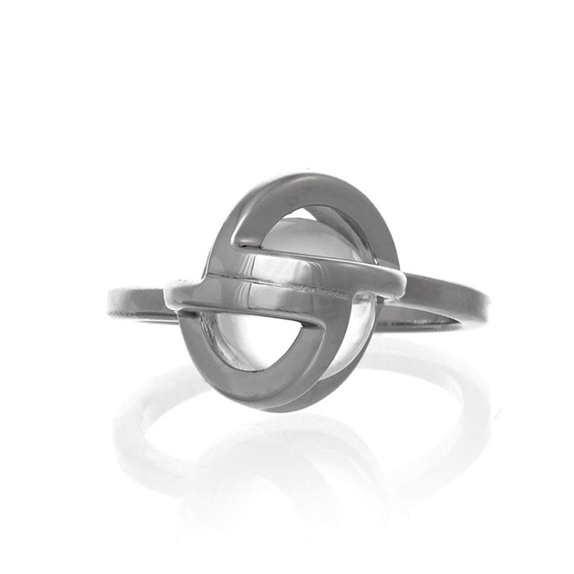 Planetaria Ring 12 </br>Rhodium on Sterling Silver