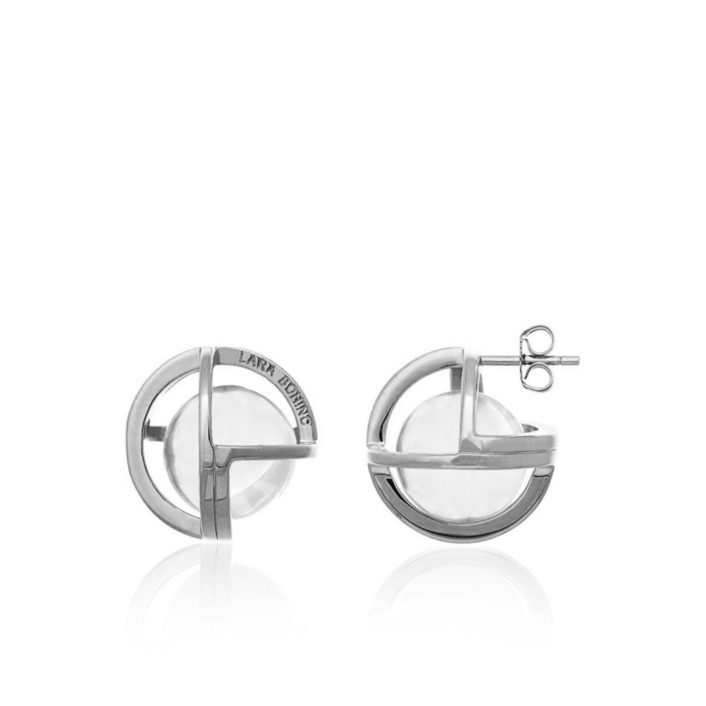 Planetaria 20 Stud Earrings </br> Rhodium on Sterling Silver