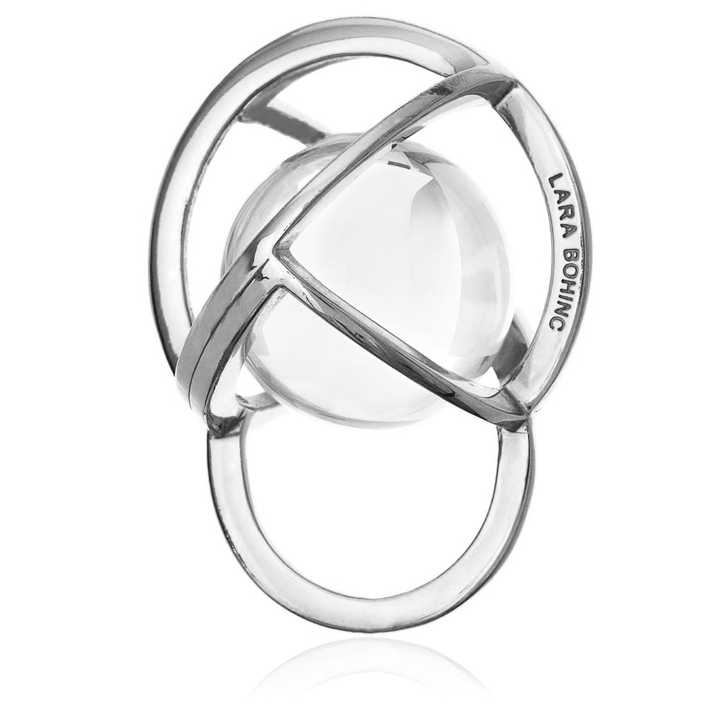 Planetaria Ring 30 </br> Rhodium on Sterling Silver