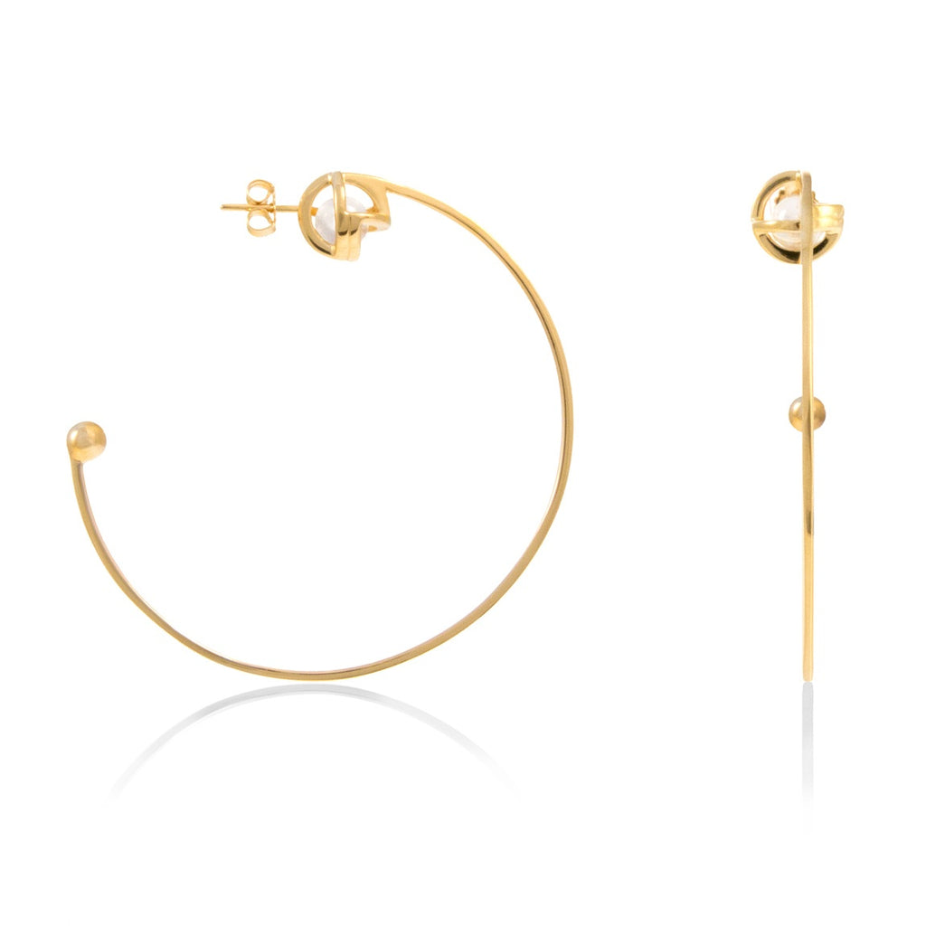 Planetaria Hoop Earrings 12 </br> 18ct Yellow Gold on Sterling Silver