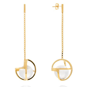 Planetaria Drop Earrings 25 </br>18ct Yellow Gold on Sterling Silver