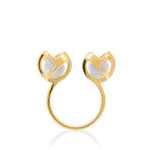 Planetaria Double Ring 12 </br>18ct Yellow Gold on Sterling Silver