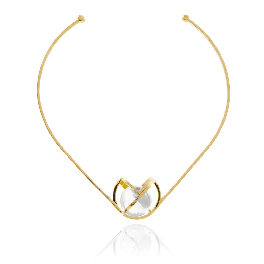 Planetaria Choker 30 </br> 18ct Yellow Gold on Sterling Silver