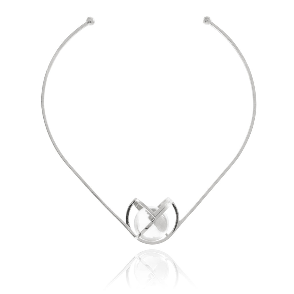 Planetaria Choker 30 </br> Rhodium on Sterling Silver