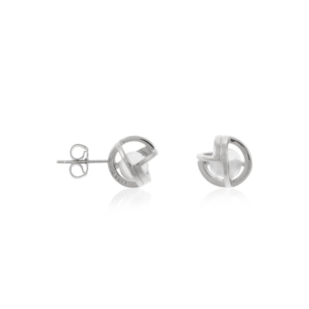 Planetaria Studs 10 </br> Rhodium on Sterling Silver