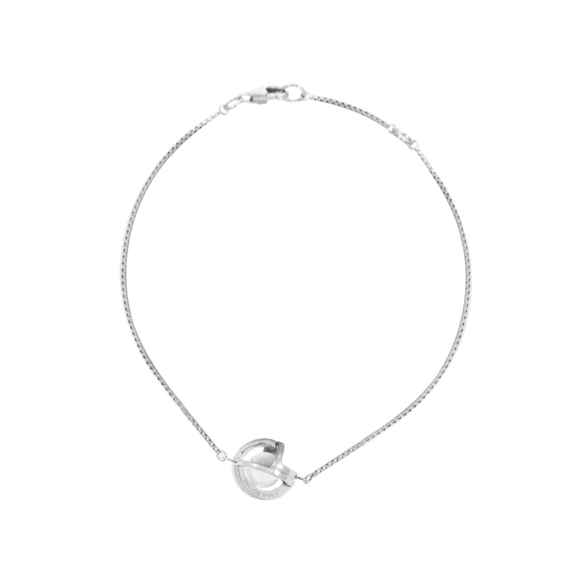 Planetaria Chain Bracelet 10 </br> Rhodium on Sterling Silver