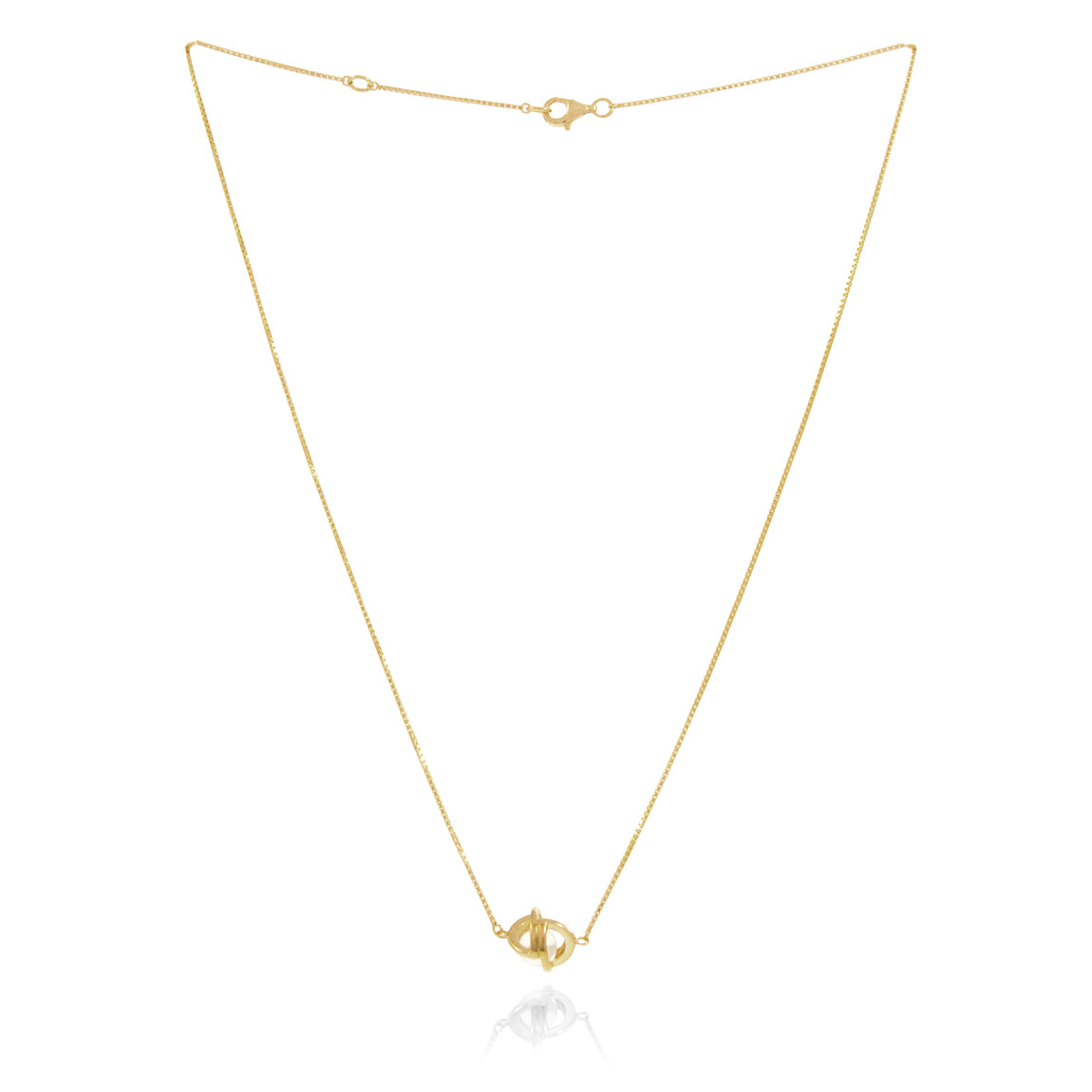 Planetaria Chain Necklace</br>18ct Yellow Gold on Sterling Silver