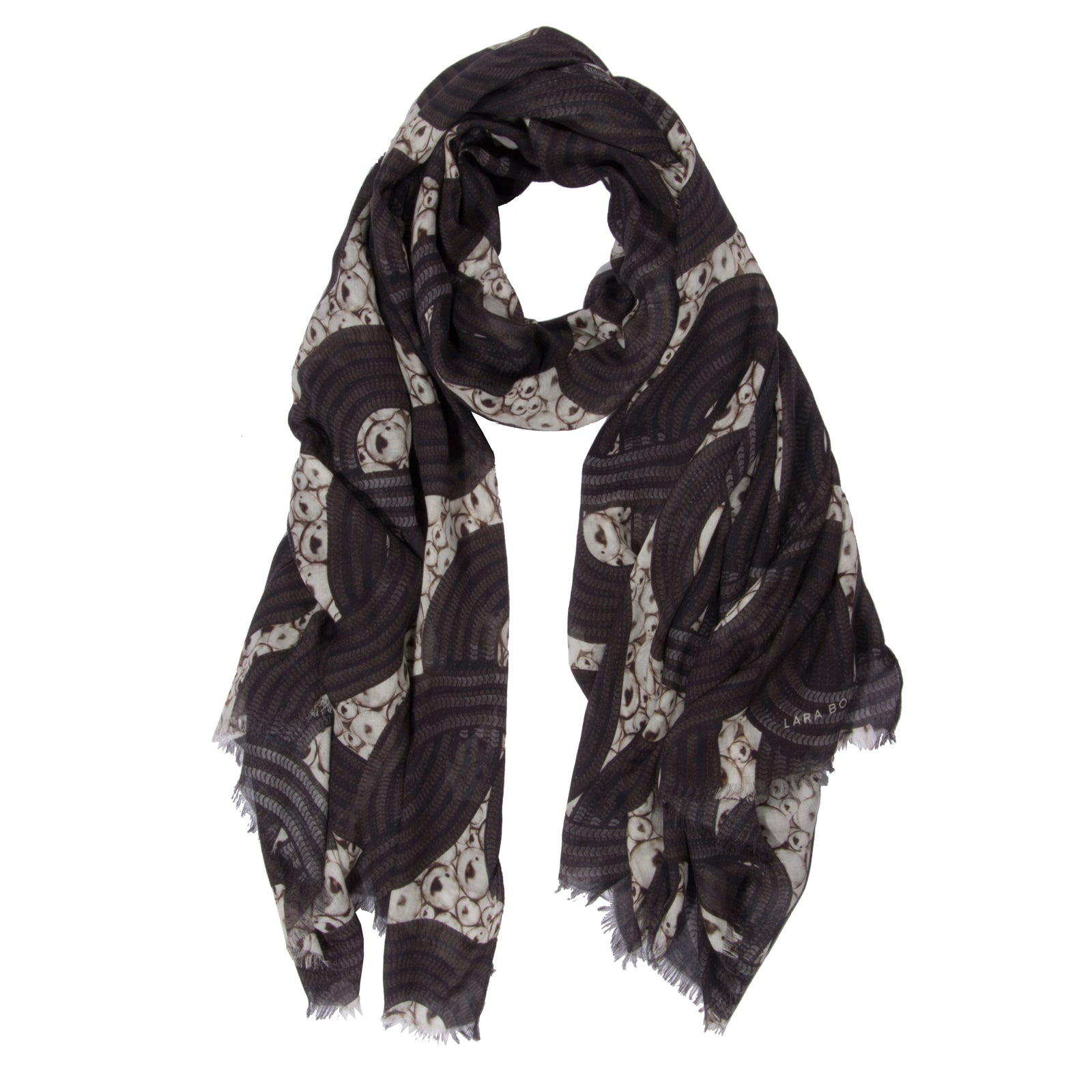 Lunar Eclipse Scarf </br>Black and White
