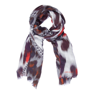 Leopard Scarf </br> Red