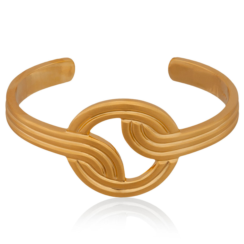 Stenmark Cuff  <br /> Sterling Silver Plated in 18ct Yellow Gold