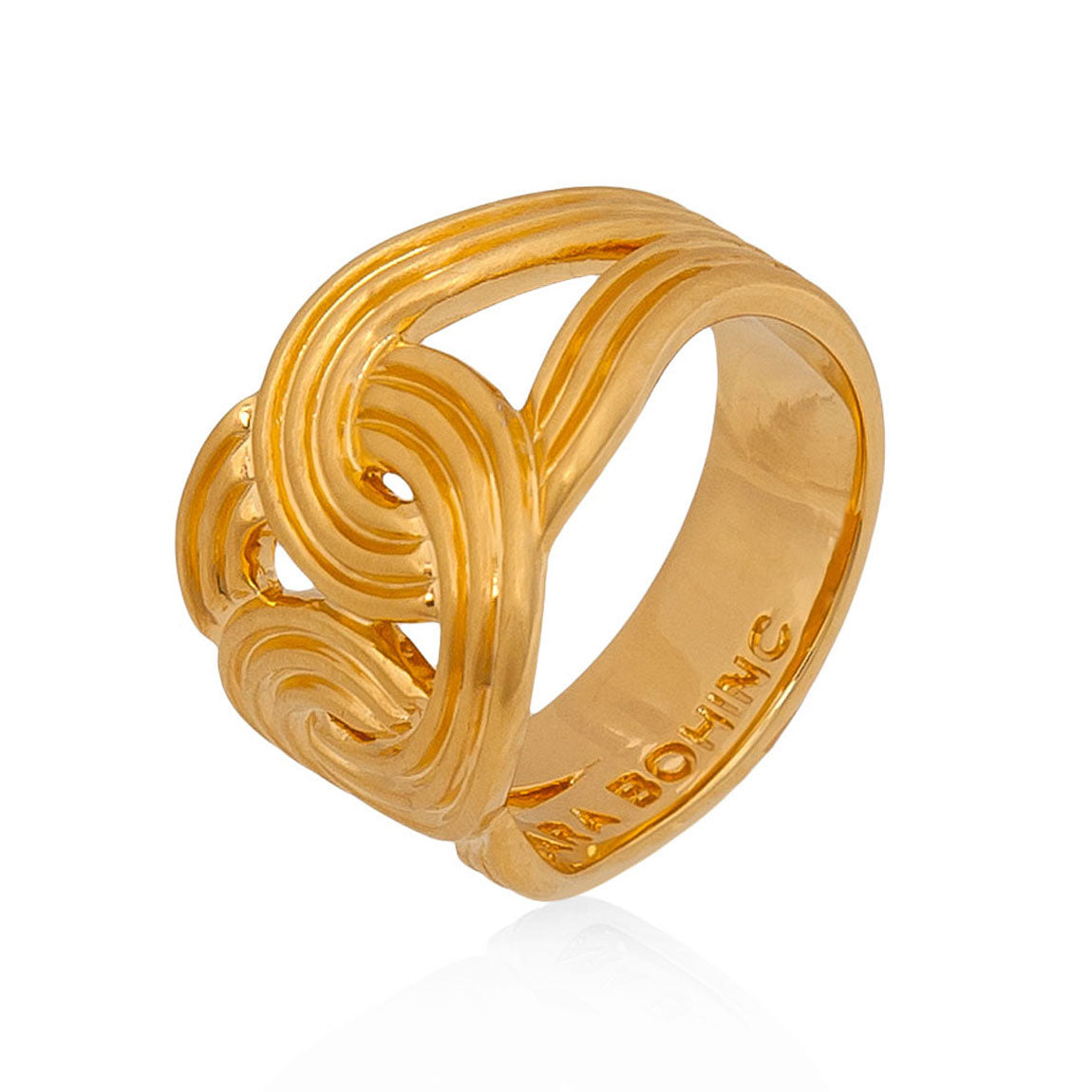 Stenmark Solar Ring <br /> Sterling Silver Plated in 18ct Yellow Gold