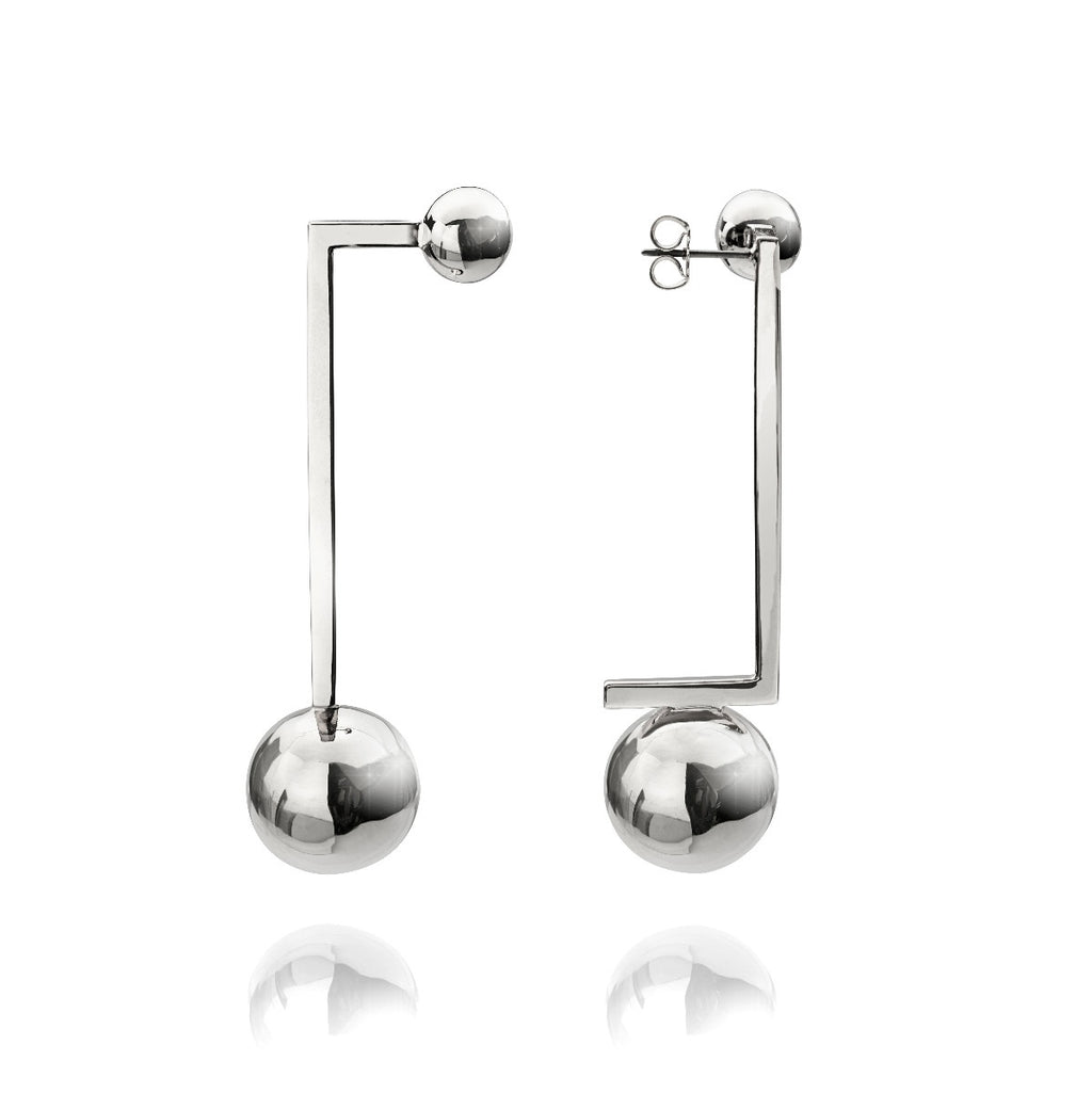 Solaris Constellation Earrings </br> Platinum on Brass