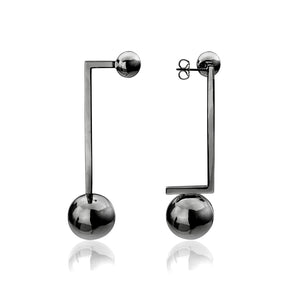 Solaris Constellation Earrings </br> Black Rhodium on Brass