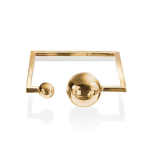 Solaris Sun and Moon Bangle </br> 18ct Yellow Gold on Brass