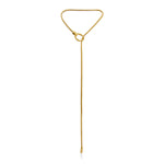 Schumacher Loop Pendant </br>18ct Yellow Gold on Brass