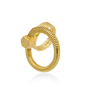 Schumacher Ring</br>18ct Yellow Gold on Brass