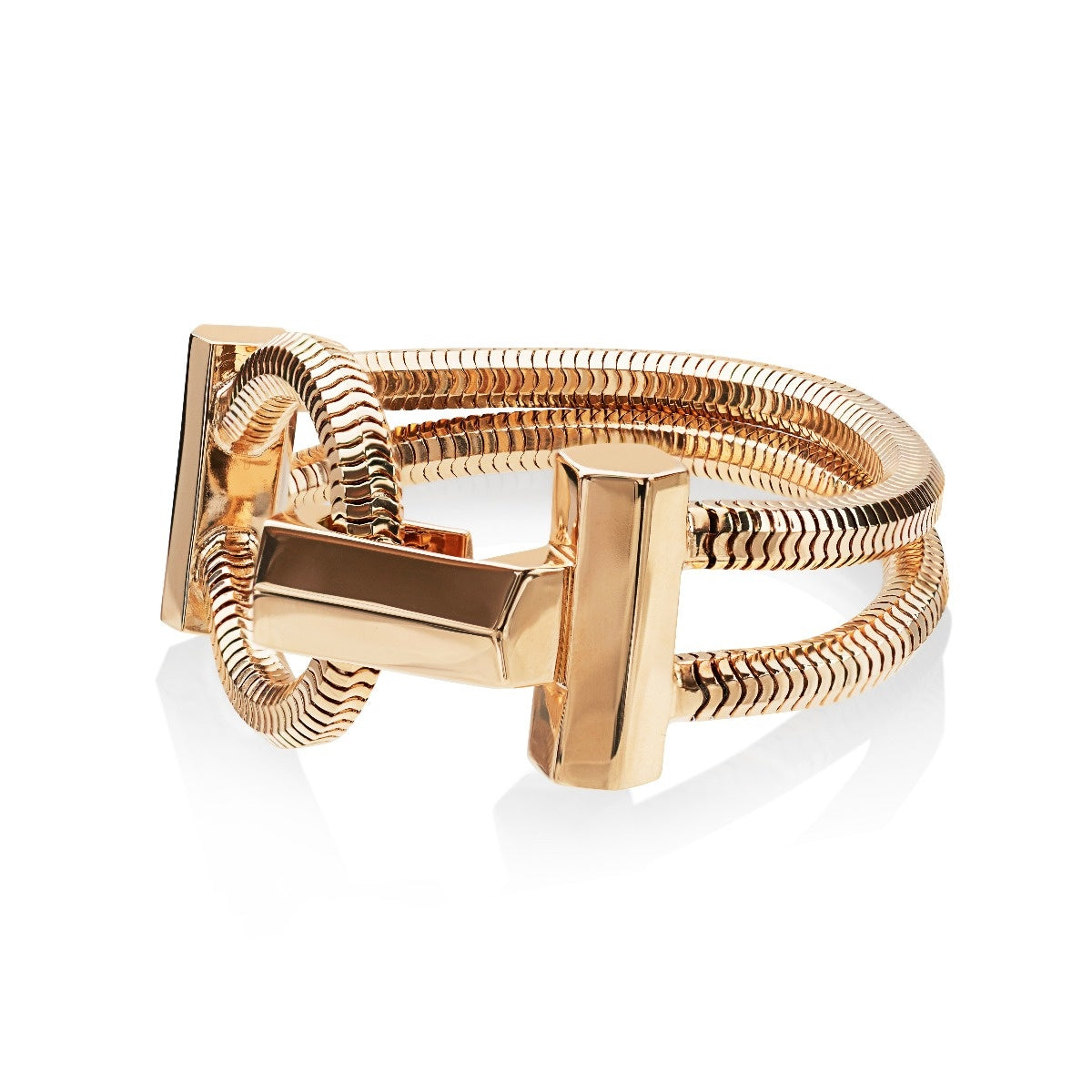 Schumacher Clasp Bracelet </br> 18ct Yellow Gold on Brass