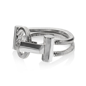 Schumacher Clasp Bracelet </br> Rhodium on Brass