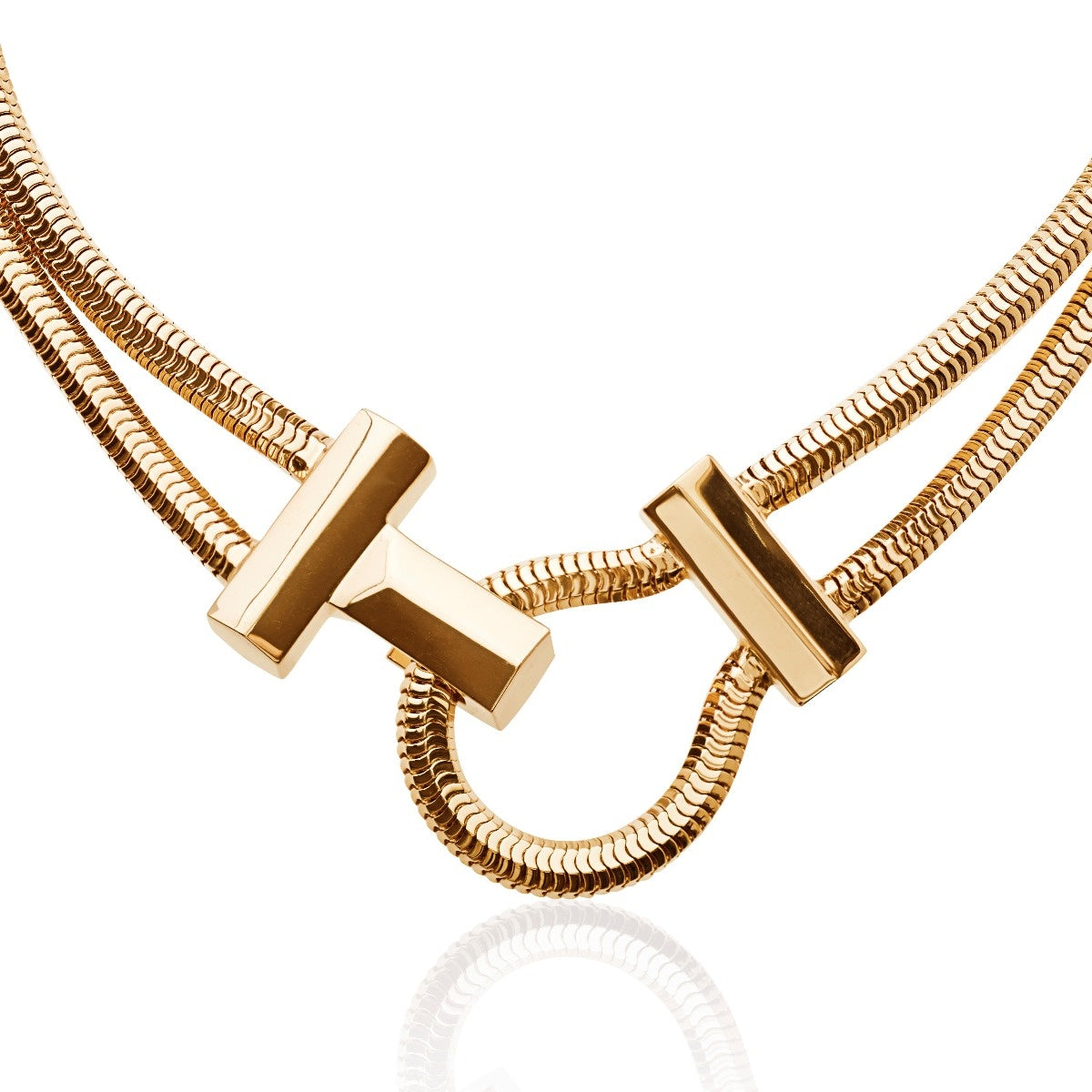 Schumacher Clasp Necklace </br> 18ct Yellow Gold on Brass
