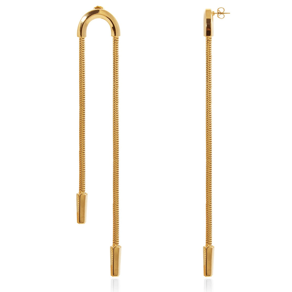 Schumacher Double Earrings </br> 18ct Yellow Gold on Brass