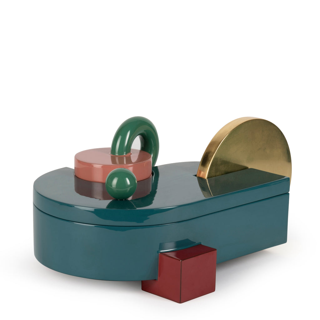 We Are Family Box </br> Wood, Urushi Lacquer and Gold Leaf