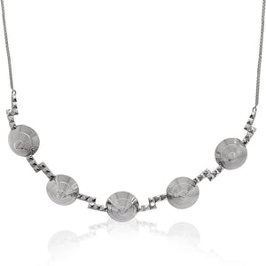 Eye Necklace </br> Sterling Silver Plated in Rhodium