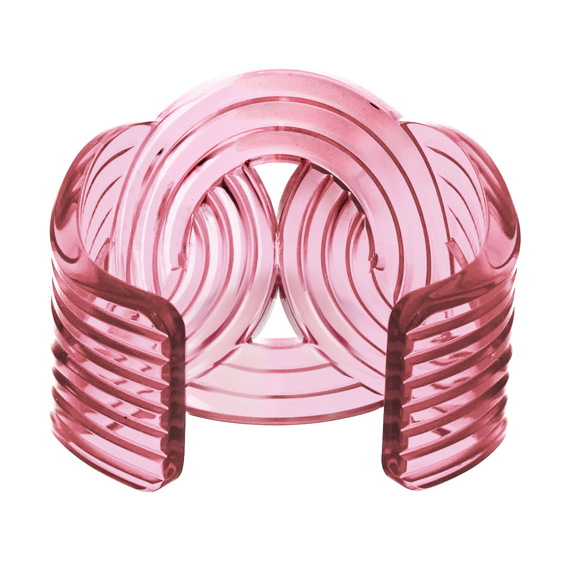 Solar Light Cuff <br /> Pink Transparent