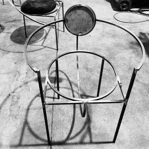 Lunar Chair </br> Steel and Wool