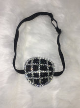 Black Padded Medical Patch In Jet Black & Luxury Crystals Eye Patch