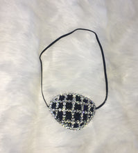 "Black Eye Patch Bedazzled In Jet Black & Crystals ""Criss Cross"""