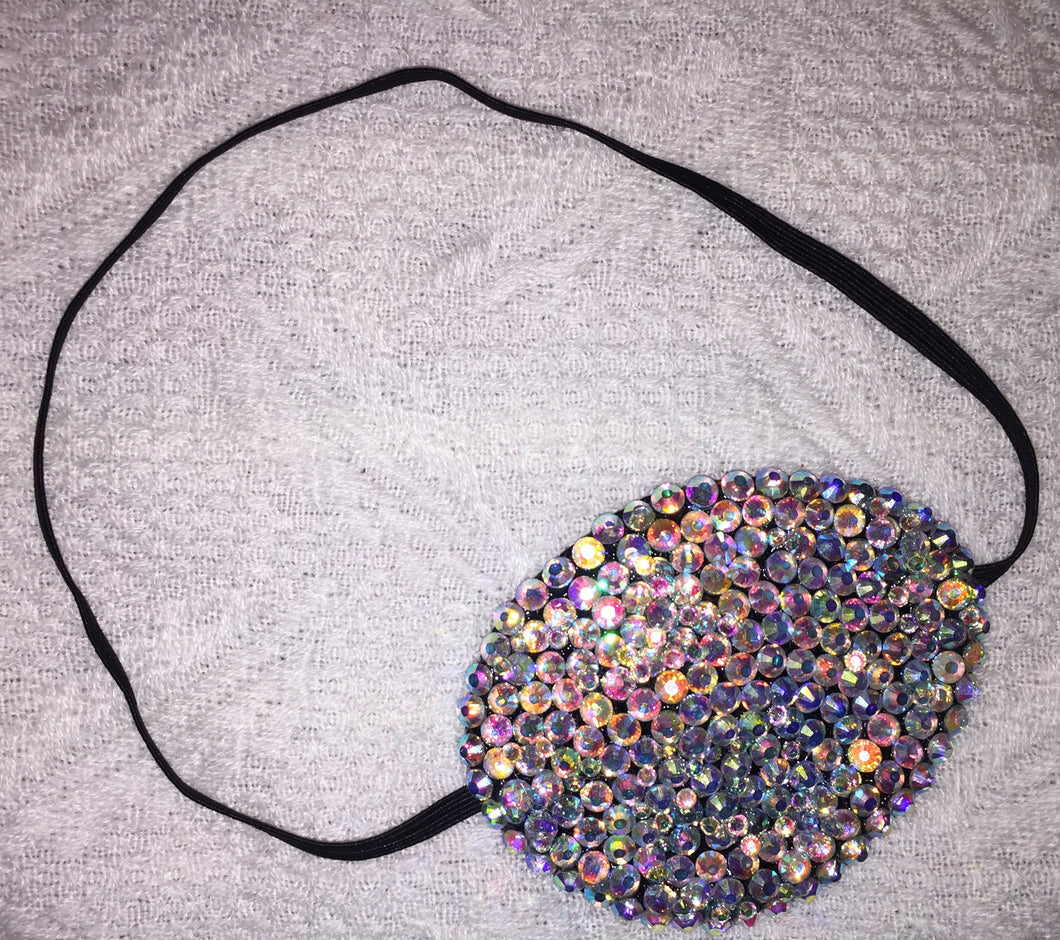 Black Eye Patch Bedazzled In Crystal AB