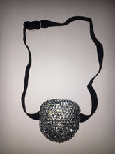 Black Padded Medical Patch In Luxury Crystal Bedazzled Eye Patch
