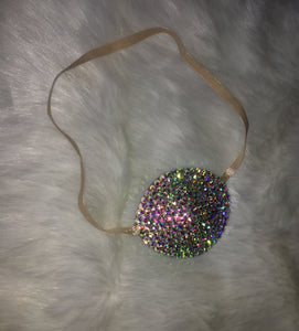 Nude/Skintone AB Crystal Bedazzled Eye Patch