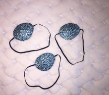 Black Eye Patch Bedazzled In Ice Light Blue Crystal