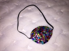 Black Eye Patch Bedazzled In MultiColour Crystals
