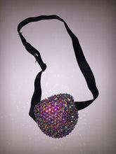 Black Padded Medical Patch In Luxury Crystal AB Bedazzled Eye Patch