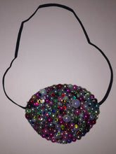 Black Eye Patch Bedazzled In Mixed Pearls & Crystals