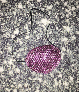 Black Eye Patch Bedazzled In BubbleGum Pink Crystal