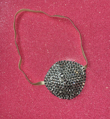 Nude/Skintone Crystal Bedazzled Eye Patch