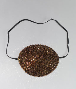Black Eye Patch Bedazzled In Luxury Rose Gold Crystal