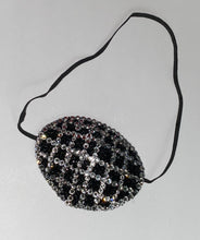 "Black Eye Patch Bedazzled In Jet Black & Luxury Crystals ""Criss Cross"""