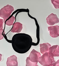 Black Padded Medical Patch In Fuschia Hot Pink Crystal Eye Patch