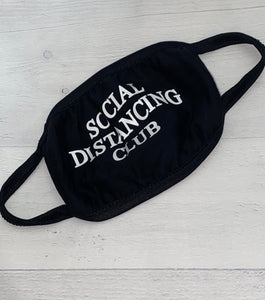 "Glow In The Dark ""Social Distancing Club"" Face Mask"