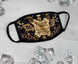 Baroque Glam Sparkly Face Mask